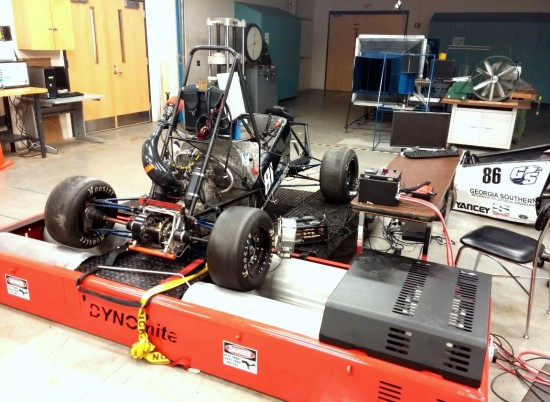 Automotive chassis dyno testing