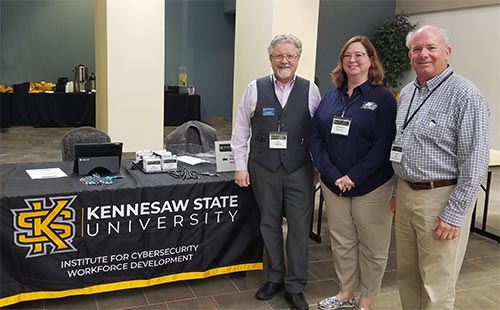 Bill, Elizabeth, and Frank at the Kennesaw Cybersecurity Conference