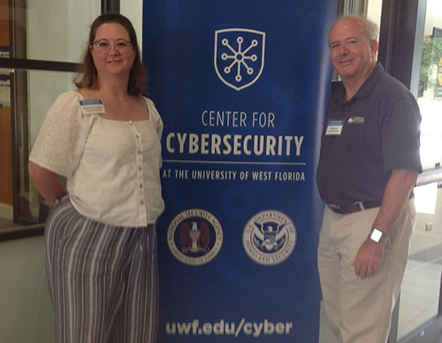Frank Katz and Elizabeth Rasnick at the 2019 Southeast CAE Cybersecurity Forum
