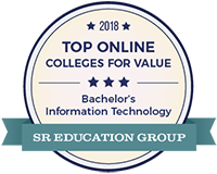 Best Value Online IT Degree Badge