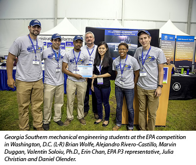 2013 EPA P3 student competition and National Sustainable Design